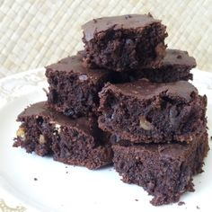 Chocolate and nut brownies, so creamy! #brownies #chocolate #nut #vegan
