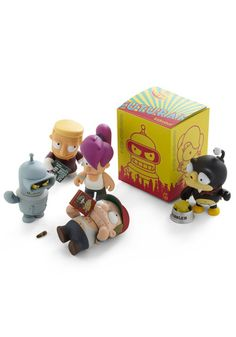 As a pretty die-hard Futurama fan, these are friggin' adorable. If I had a cubicle, they would be atop my computer monitor.