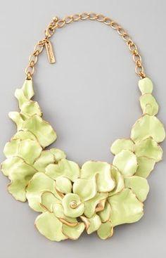 Oscar de la Renta Flower Necklace via NM
