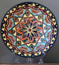 Lithuanian Pottery Art By GIEDRE VINKSNAITE 2014 Wall Plaque / Bowl Plate Vase