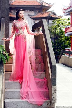 Mai Ka Ngọc Duyên diện áo dài cưới kiêu sa - Ngoisao Ngôi sao