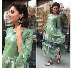 """17.5k Likes, 69 Comments - Pinkvilla (@pinkvilla) on Instagram: """"Taapse Pannu dolls up in green! @pinkvilla  . . #pinkvilla #taapsepannu #actress #bollywoodactress…"""""""