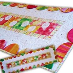 Mother's Spring Bling Table Runner Fabric & Swarovski Hot Fix Crystal Kit - 2 Colorway Options!