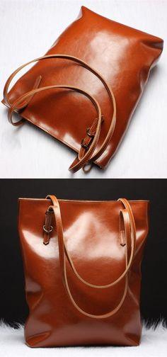modest brown leather shoulder bag, large bag for work, Luxury Big Bag Shoulder Messenger Bag