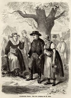Bauern in Oberschlesien, 1866, nach M. Koska