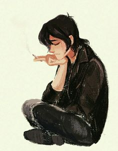 I don't like Keith smoking but this art is really cool