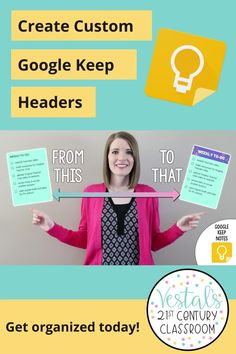 In this ed tech tutorial, learn how to create custom headers for your Google Keep notes.#vestals21stcenturyclassroom #googlekeep #googlekeeptutorial #howtousegooglekeep #googlekeepheaders #googleapps #googleappsforeducation #edtech #edtechtutorial