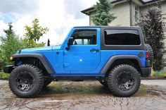 with no lift. Pics please. - Page 2 - Jeep Wrangler Forum Jeep Wrangler Forum, Jeep Wrangler Lifted, Jeep Rubicon, Jeep Wrangler Unlimited, Lifted Jeeps, Jeep Jk, Jeep Truck, 2 Door Jeep, Blue Jeep