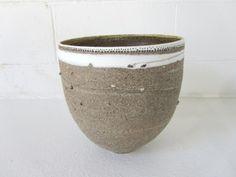 Megan Puls Large vessel Pierced mixed recycled clays with porcelain 24 x 23 cm Clays, Flower Pots, Planter Pots, Recycling, Porcelain, Pottery, Ceramics, Ideas, Flower Vases