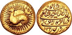 CNG: Printed Auction Triton XIX. INDIA, Mughal Empire. Nur al-Din Muhammad Jahangir. AH 1014-1037 / AD 1605-1627. AV Mohur (21mm, 10.93 g, 7h). Zodiac Type, Class A. Agra mint. Dated AH 1032 (5 November AD 1622-24 October AD 1623) and RY 17 (15/24 October AD 1621 – 14/23 Oc
