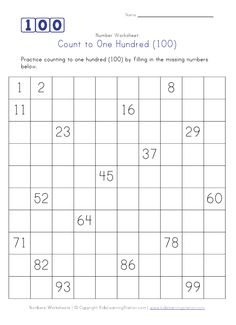 1000+ ideas about Counting To 100 on Pinterest | 100th Day, 100 ...