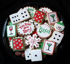 More Bunco Cookies-Christmas Style
