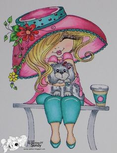 I just love this image from the I Love Coffee Besties Coloring Book