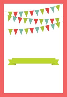 Red Pennants - Free Printable BBQ Party Invitation Template | Greetings Island