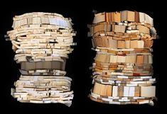 Book Sculptures by Ann Hamilton sculpture recycling books