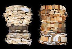 Book Sculptures by Ann Hamilton sculpture recycling books