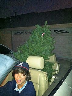 christmas in a convertible