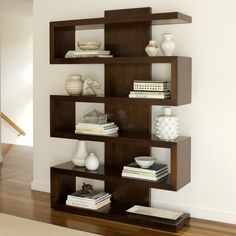 cool and modern bookcase ...if I had this it would be way less coordinated, with…