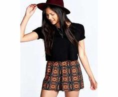 boohoo Haleigh Ethnic Print Jersey Flippy Shorts - It's short time! Let's experiment with lengths - dare to bare in knock-out knicker shorts and high shine hotpants, or go borrowed from the boyfriend in tailored board shorts. We'll be saying yes to ne http://www.comparestoreprices.co.uk/dresses/boohoo-haleigh-ethnic-print-jersey-flippy-shorts-.asp