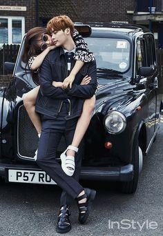 Lee Jong Suk Park Shin Hye InStyle Magazine