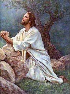 Christ in the garden Pictures Of Jesus Christ, Religious Pictures, Religious Art, Jesus Tattoo, Jesus Painting, Saint Esprit, Jesus Christus, Biblical Art, Jesus Is Lord