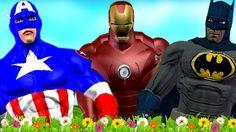 Ironman Captain America Batman Cartoons Children Nursery Rhymes | Superh...