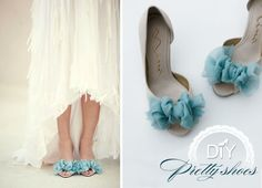 Do It yourself wedding shoes.  But it could work for any dress you needed to match shoes to.