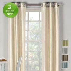 2-Pack: Geometric Grommet Curtain Panels