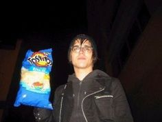 Mikey Way with chips because reasons.