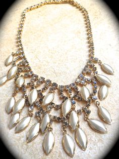 Runway Glitz Glamour Bib Necklaces Day Shop Of The Day #Ecochic #JNPVintageJewelry by Gena Lightle on Etsy