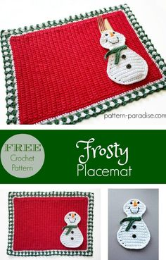 #12WeeksChristmasCAL - Frosty Placemat | Pattern Paradise