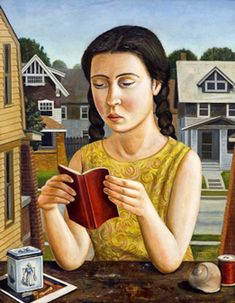 Girl With Red Book  - Rick Beerhorst