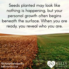 Do you sometimes feel that because you cannot see anything growing in your life that nothing is happening? Look to nature for your inspiration and see that much is happening beneath the surface before growth above ground occurs. #quote #selflove #compassion #wisdom #success