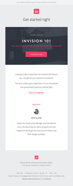 You're invited to our webinar, Invision 101