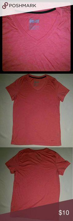 NWOT XL Nike Pink V-Neck Dri-Fit Shirt NWOT XL Nike Pink Dri- Fit Shirt. V-neck Never worn. Paid $ 30 Nike Tops Tees - Short Sleeve