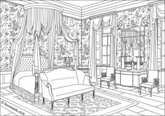 Authentic Victorian Bedroom - Travel in Time with Original Coloring Pages from http://favoreads.club