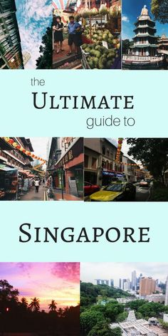The Ultimate Guide to Singapore Planning a trip to Singapore? Let me help you out! I& got the ULTIMATE guide to Singapore. Singapore Travel Tips, Singapore Itinerary, Visit Singapore, Malaysia Travel, Thailand Travel, Asia Travel, Solo Travel, Singapore Sling, Singapore Trip