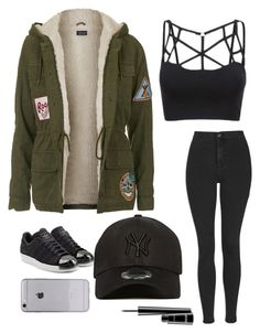""""" by hadarzarfaty on Polyvore featuring Topshop, New Era, adidas Originals, MAC Cosmetics, women's clothing, women, female, woman, misses and juniors"