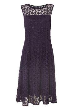 Lace Fit Flare Dress - at Roman Originals