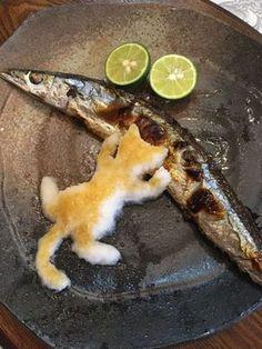 japanese food, sushi, sashimi, japanese sweets, for japan lovers Cute Food, Good Food, Yummy Food, Animal Themed Food, Creative Food Art, Keto Diet Benefits, Food Garnishes, Food Decoration, Food Platters