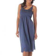 Smocked Yoke Crochet Trim Dress. I really like this dress.