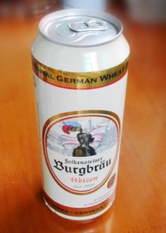 A German beer can.
