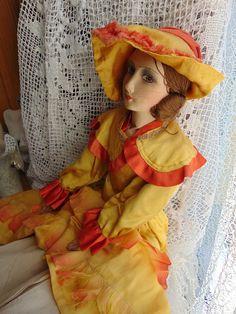 Vintage Puppen - Boudir Puppe **Flammenkleid** - ein Designerstück von Montiem bei DaWanda