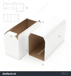 Tray And Tube Box Package With Die Cut Template Stock Photo 336956417 : Shutterstock