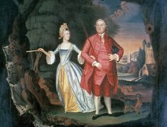 Painting (Portrait)  Title:  A Gentleman and Lady in a Landscape (Conversation Piece)  Category:  Paintings   Creator (Role):  William Williams of Norwich (Artist)  Place of Origin:  United Kingdom, Europe  Date:  1775  Materials:  Oil paint; Canvas  Techniques:  Painted  Museum Object Number:  1958.1732  Winterthur