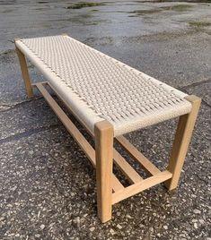 Handmade Furniture, Diy Furniture, Furniture Design, Oak Bench, Woodworking Bench, Solid Oak, Wood Projects, Decoration, Diy Woven Bench