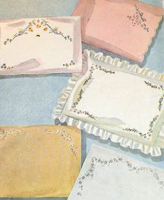 Simplicity Transfer Pattern 7342 Dainty Baby Pillow Case Motifs Embroidery Transfer