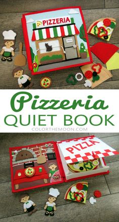 (notitle) DIY quiet book guideStart making quiet book for your toddler today with this simple step by step instructions. You will get worksheet to plan your DIY quiet book and quiet book page pattens to Diy Quiet Books, Felt Quiet Books, Sensory Book, Pizzeria, Quiet Book Patterns, Book Activities, Indoor Activities, Summer Activities, Activity Books