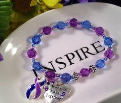 Why The Body Attacks Itself Tarnish Remover, Rheumatoid Arthritis, Blue Ribbon, Blue Beads, Glass Beads, Gifts For Her, Autoimmune Disease, Purple, Etsy