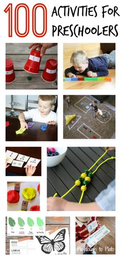 100 Awesome Activities for Preschoolers. Easy science experiments, math games, early reader activities, crafts and more.